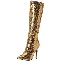 Ellie Shoes E511TINGOLD-8 Womens Gold Sequin Knee High Boot SIZE 8