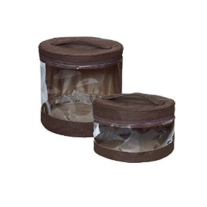 JJ Cole Clear Storage Bin Set, Cocoa by JJ Cole