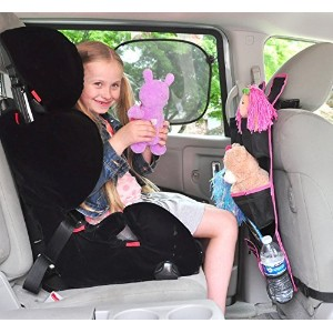 Backseat Car Organizer |Best Baby Travel Accessories for Kids Toy Storage Ideas|FREE Travel Gifts|Available in Blue and Pink| 100% Moneyback Satisfaction Guaranteed by Zufy