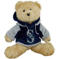MLB Seattle Mariners 2010 Fuzzy Hoodie Bear、8インチ、グリーン