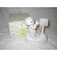 "Precious Moments Figurine Musical ~ I'm Sending You a White Christmas (Plays: ""White Christmas"") ..."