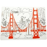 modern-twist Kids Mark-Mat Silicone Coloring Placemat, Fun on the Golden Gate by modern-twist