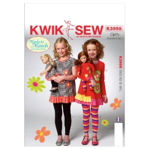 Kwik Sew Patterns K3958 Girls Top and Leggings Sewing Template, All Sizes by KWIK-SEW PATTERNS