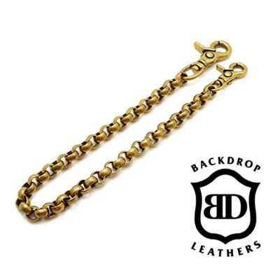 【BACK DROP バックドロップ】ウォレットチェーン/WALLET CHAIN (Brass)REAL DEAL