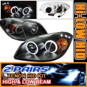 Chevrolet Cobalt ヘッドライト 2 Sets HID 05-10 Cobalt CCFL Halo Projector Headlights 2セットは05-10コバルトCCFLヘイロ...