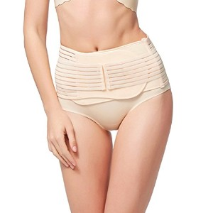 Zhhlinyuan 品質と快適 Beauty Body Pelvic Tightening Shapewear Postpartum Correction Waist Wrap Pregnant...