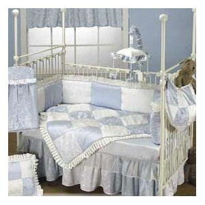 Baby King Blue Crib Set by BabyDoll Bedding