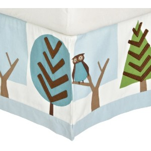 DwellStudio Patterned Canvas Crib Skirt, Owls Sky by DwellStudio (English Manual)