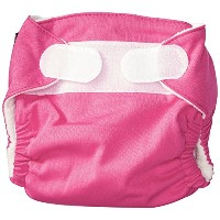 Imagine Baby Products Newborn Stay Dry All-In-One Hook and Loop Cloth Diaper, Raspberry by Imagine...