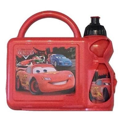lunch box - disney cars - combo with water bottle