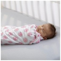 BreathableBaby Pocket Swaddle, Pink Mist Solid and Dahlia Print by BreathableBaby