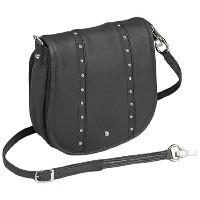 GTMガンTote ' n Mamas Concealed CarryシンプルBlingハンドバッグ、ブラック、スモール