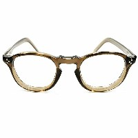 GOOD SIZE 3ドットヒンジ FRAME FRANCE 1950s フランス製 フレンチアーネル FRENCH ARNEL BROWN CRYSTAL ヴィンテージ メガネ 眼鏡 A1934