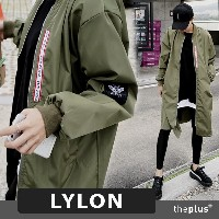 ★Lylon ★ S~XXL ★ Plus size ★ Long and Loose Bomber Jumper / Jacket / Korea Fashion / Plus size