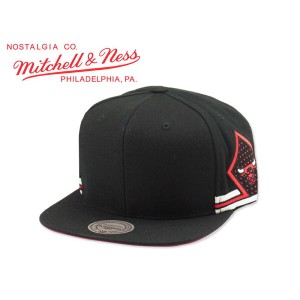 ☆MITCHELL&NESS【ミッチェル&ネス】NBA CHICAGO BULLS Blank Front Short Hook SNAPBACK CAP ブルズ スナップバック 14356...