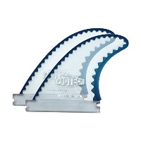 "Surfco PROTECK FIN Power Flex 4"" Future CLR/BLEパワーフレックス 4"" サイドフィン プロテック フィン(サイドフィン2枚セット)フィン スケッグ..."