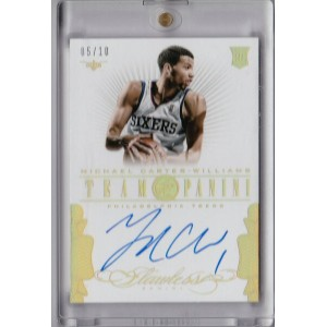 マイケル・カーター・ウィリアムズ Michael Carter Williams NBA 2013-14 Flawless Team Panini Auto 5/10