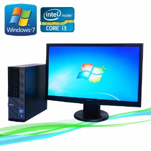 中古パソコン DELL Optiplex790SF 23ワイド液晶 フルHD対応 Core i3-2100 メモリ2GB 250GB DVD-ROM Windows7Pro 32Bit /R-dtb...