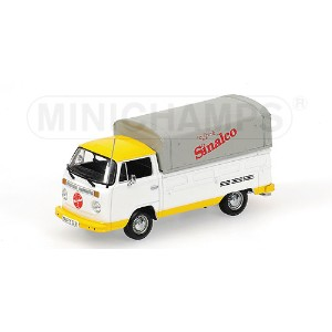 VOLKSWAGEN | T2 PICK-UP VAN SINALCO 1962 | WHITE YELLOW /Minichampsミニチャンプス 1/43 ミニカー