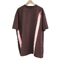 RAF SIMONS ラフシモンズ 17SS Bleached Mid Weight Tシャツ バーガンディー S【中古】