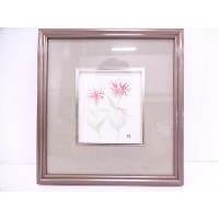 【IDN】 ベルガモット水彩画額【中古】【道】