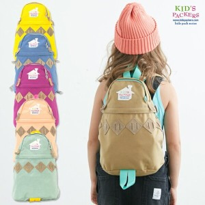 KIDS PACKERS キッズパッカーズ ARGYLE BACK PACK アーガイルバックパック Sサイズ 【キッズ グッズ デイパック リュック】 正規品・正規取扱店