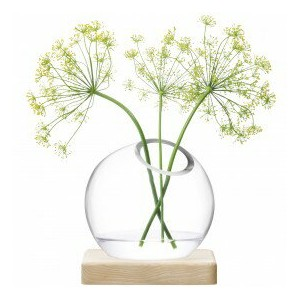 LSA AXISVASE & Ash Base〈CLEAR〉H145mm 【花瓶】 箱入り