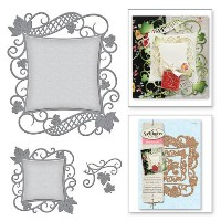 S4-525/スペルバインダーズ/ダイ(抜型)/NESTABILITIES DECORATIVE ACCENTS VICTORIAN GARDEN DECORATIVE CURVED SQUARE...