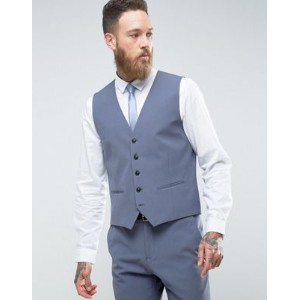 Selected Homme Slim Wedding Waistcoat With Stretch