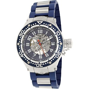 インビクタ 時計 インヴィクタ メンズ 腕時計 Invicta Corduba Mechanical Blue Skelton Dial Blue Polyurethane Mens Watch...