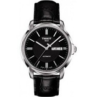 ティソ Tissot 腕時計 メンズ 時計 Tissot Mens Automatics III Black Dial Analog Watch T0654301605100