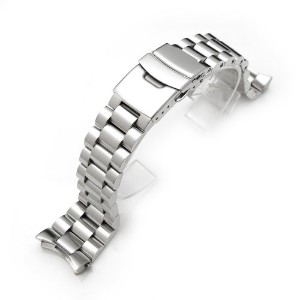 セイコー 腕時計バンド 22mm Endmill watch band for SEIKO Diver SKX007, Brushed Solid Stainless Steel