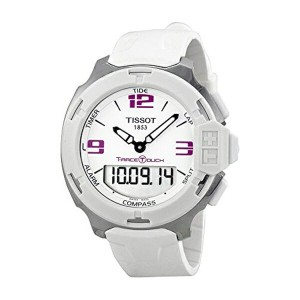 ティソ Tissot 腕時計 メンズ 時計 Tissot T-Race Analog Digital White Rubber Mens Watch T0814201701700