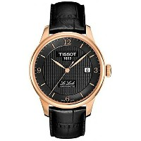ティソ Tissot 腕時計 メンズ 時計 Tissot Le Locle Automatic COSC Black PVD Mens Watch T0064083605700