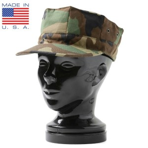 MADE IN USA 新品 米軍 ユーティリティーキャップ WOODLAND CAMOUFLAGE, PATTERN TYPE II