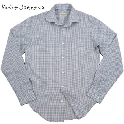 Nudie Jeans co/ヌーディージーンズ ESBEN MICRO CHECKマイクロチェック長袖シャツ GREY(グレー)