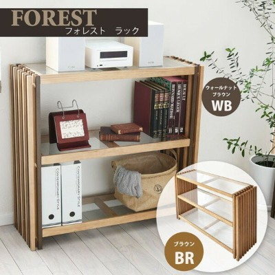 forest FOREST ラック ガラス 天然木 北欧 木製 本棚 棚 収納家具 格子 おしゃれ オイル アンティーク 植物性オイル 塗装(代引不可)【送料無料】【S1】