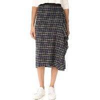 ヴィンス レディース スカート【Multi Plaid Drape Front Skirt】Coastal