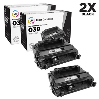 LD c Compatible Canon 0287C001 / 039 セット of 2 ブラック Laser Toner Cartridges for use in ImageCLASS...