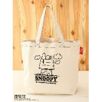 【SALE/10%OFF】BOO HOMES/BACK ALLEY/Natural Boo B4刺繍トート SNOOPY ブーフーウー バッグ【RBA_S】【RBA_E】