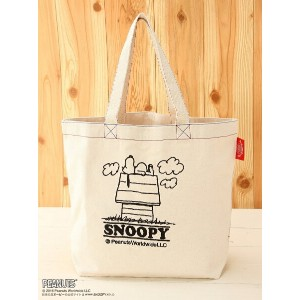 BOO HOMES/BACK ALLEY/Natural Boo B4刺繍トート SNOOPY ブーフーウー