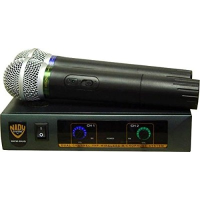 Nady DKW DUO HT B/D VHF デュアル Wireless ハンドヘルド Microphone System - インクルーズ 2 microphones, AC adapter...