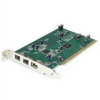 StarTech.com 3-Port 2b 1a PCI 1394b FireWire Adapter Card with DV Editing キット (PCI1394B_3) (海外取寄せ品)