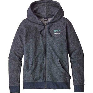 パタゴニア レディース トップス パーカー【Patagonia Shop Sticker Lightweight Full-Zip Hoody】Navy Blue