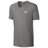 ナイキ メンズ Tシャツ トップス Men's Nike V Neck Futura Embroidered T-Shirt Dark Grey Heather/Dark Grey Heather...