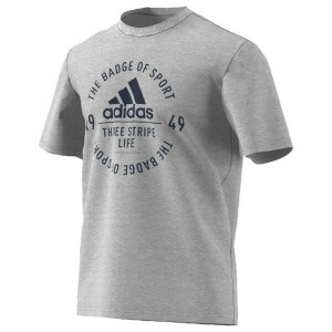 アディダス メンズ Tシャツ トップス Men's adidas Athletics 3-Stripe Emblem T-Shirt Medium Grey Heather/Collegiate...