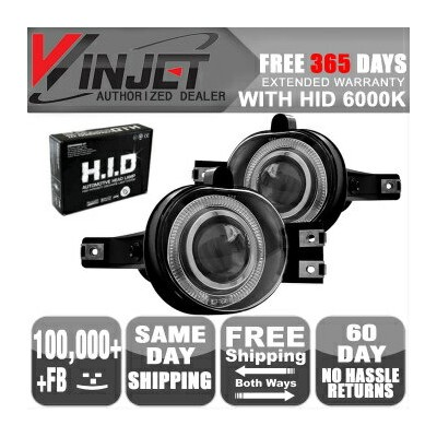 Dodge Ram 1500 フォグライト 02-08 Dodge Ram Pickup Truck Halo Projector Fog Lights Clear Lamps 6000K HID...