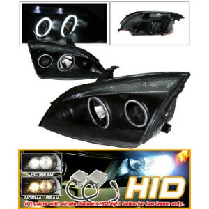 Ford Focus ヘッドライト Xenon 05-07 Focus Zx4 4Dr CCFL Halo Projector Headlight キセノン05-07フォーカスZX4 4DR...