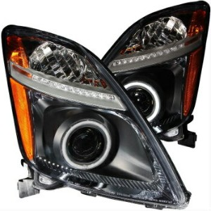 トヨタ プリウス ヘッドライト TOYOTA PRIUS 2004-2009 PROJECTOR HEADLIGHTS HALO BLACK HOUSING (CCFL) LH+RH TOYOTA...