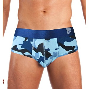 MOSMANN M SERIES CAMOUFLAGE PRINT Brief Blue S/XL (あす楽対応 土日祝日を除く) /正午まで当日発送(土日祝日を除く)